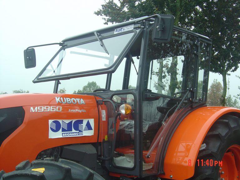 Omga cabine per trattori - cabina per Kubota M 9960 low profile